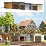 Busch-1454-4-Schuren-Garageboxen-1:87