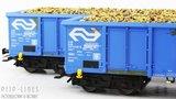 Marklin 47193 NS set Eanos open bak wagen beladen met bieten