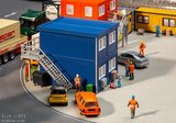 Faller 130134 Vier Bouwcontainers blauw1:87 H0