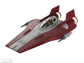 Star Wars A-Wing Fighter (Rood)