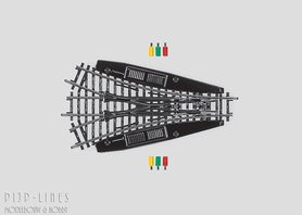 Marklin K-rails Symmetrisch driewegwissel