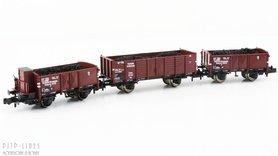 DRB open bak wagon set beladen met kolen