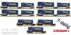 AAE DB 7-delige T3/T2000 trailertransport set met LKW Walter trailers