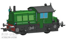 """NS rangeerlocomotief Sik serie 200/300 """"Groen"""" DCC"""