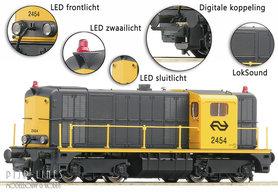NS Diesellocomotief 2400 geel/grijs DCC Digitaal Sound