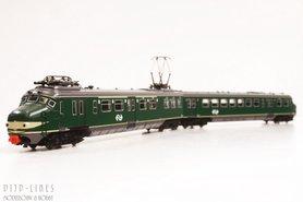 NS Hondekop treinstel groen met NS logo. 334