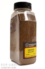Woodland Scenics Medium Ballast Shaker Bruin