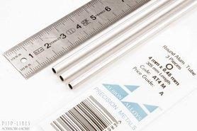 Aluminium buis. 4mm x 0.45mm x 3.1mm