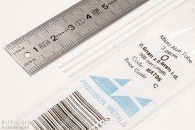 Micro Aluminium buis. 0.6mm x 0.1mm x 0.4mm