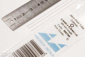 Micro Aluminium buis. 0.5mm x 0.1mm x 0.3mm