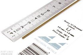 Messing U-profiel 1,5mm x 1,5mm