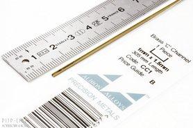 Messing U-profiel 1 mm x 1,5 mm