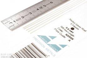 Nikkelzilver staaf rond 0,6mm