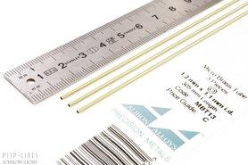 Micro Messing buis. 1.3mm x 0.1mm x 1.1mm