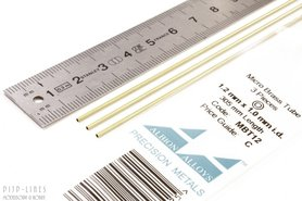 Micro Messing buis. 1.2mm x 0.1mm x 1.0mm