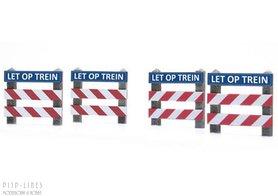 """NL Overweg hekken """"LET OP TREIN"""""""