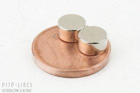 Twee magneten rond