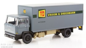 DAF kantelcabine kofferopbouw Vroom en Dreesman. Anno 1970