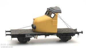 NS GTU-werkwagen neus Hondekop geel