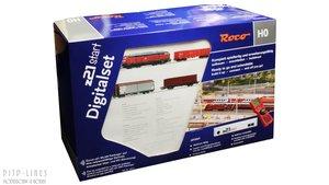 Digitale startset z21start. DB Diesellok BR 218 met goederentrein