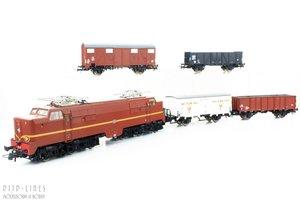 NS Elektrische locomotief 1200 bruin + Goederenwagens