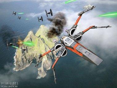 Star Wars Last Jedi X-Wing Fighter