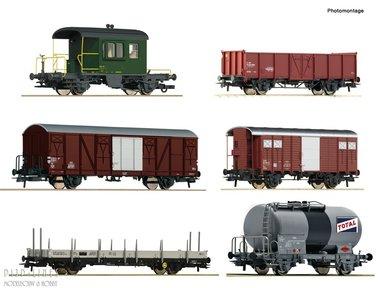 SBB 6-delige goederenwagen set