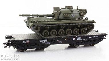 DB Zware platte wagen Rlmmps met tank