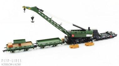 DB treinkraan met bijwagens