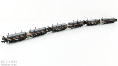 NL VPS 3-delige set staalwagons Type Salmmnps