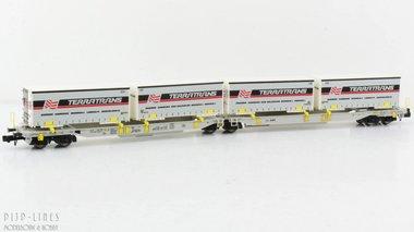 AAE T2000 container/trailer draagwagen beladen met Terratrans units