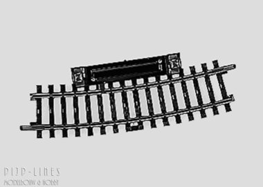 Marklin K-rails Schakelrailstuk gebogen