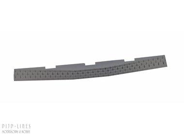 PIKO A-Gleis Ballast-behuizing voor wisselaandrijving, gebogen wissel naar links