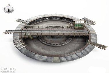 Elektrische draaischijf (Groot 310mm) AC 3-rail