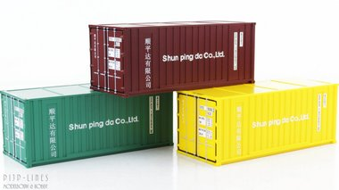 3-delige 20'f container set
