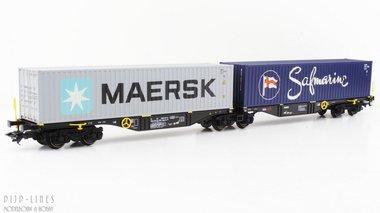 NL RRL B.V. Dubbele containerwagen Type Sggrss