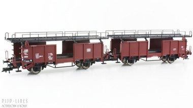 DB Set autotransportwagens Type Laaes
