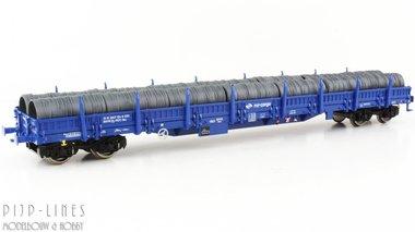 PKP Rongenwagen beladen met kabelrollen