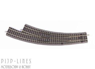 PIKO A-Gleis met bedding Gebogen wissel rechts BWR R3