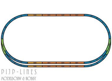 PIKO A-Gleis met bedding Rails set A+E