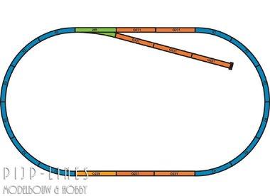 PIKO A-Gleis met bedding Rails set A+B