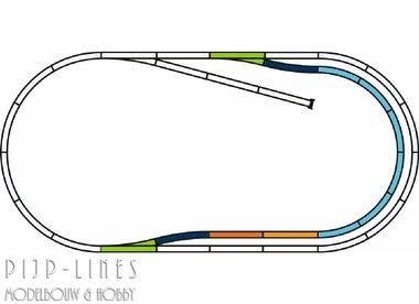 PIKO A-Gleis met bedding Rails set C