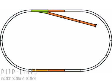 PIKO A-Gleis met bedding Rails set B