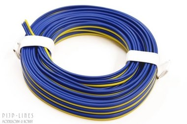 Blauw/blauw/geel 5 meter 3 polig 0,14qmm