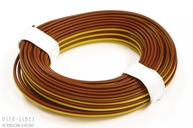 Bruin/geel 5 meter 2 polig 0,14qmm