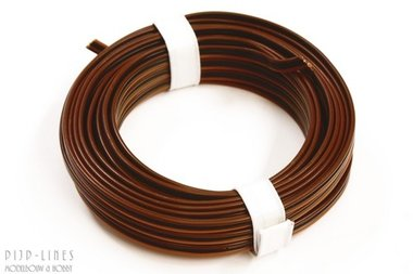 Draad L.bruin/d.bruin/zwart 5 meter 3 polig 0,14qmm