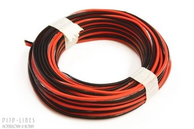 Rood/zwart 5 meter 2 polig 0,14qmm