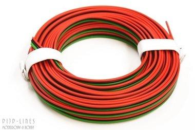 Draad Rood/zwart/groen 5 meter 3 polig 0,14qmm