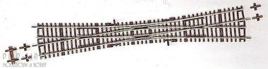 Roco-Line Engelse wissel 10° DKW10 345mm