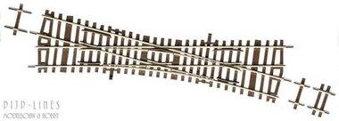 Roco-Line Halve Engelse Wissel 15° EKW15 230mm